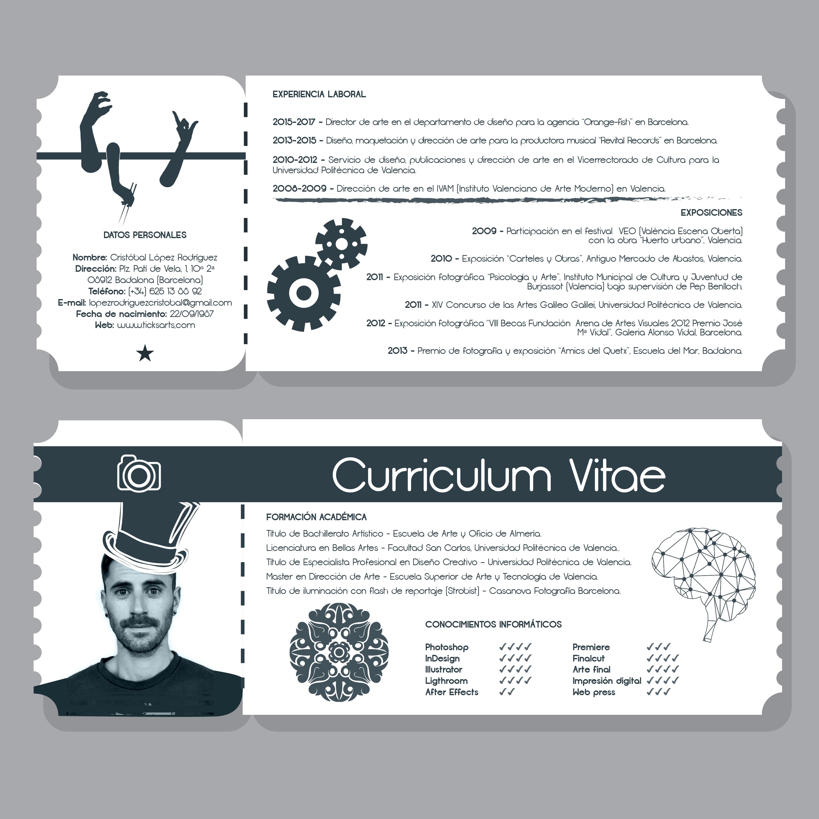 Moderno Curriculum Vitae Para Especialista En Tecnología Regalo ...